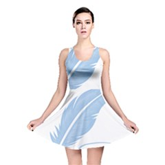 Feather Pen Blue Light Reversible Skater Dress