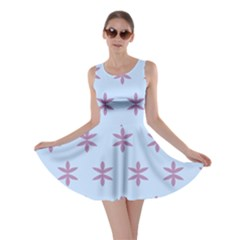 Flower Floral Different Colours Blue Purple Skater Dress by Alisyart