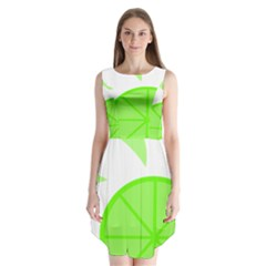 Fruit Lime Green Sleeveless Chiffon Dress   by Alisyart