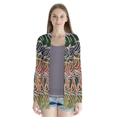 Floral Pattern Background Cardigans by Simbadda