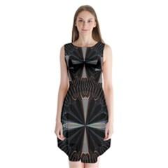 Fractal Rays Sleeveless Chiffon Dress   by Simbadda