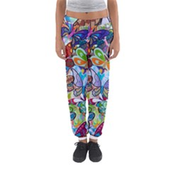 Color Butterfly Texture Women s Jogger Sweatpants