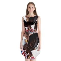Independence Day United States Sleeveless Chiffon Dress   by Simbadda