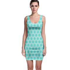 Plaid Circle Blue Wave Sleeveless Bodycon Dress by Alisyart