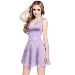 Star Lavender Purple Space Reversible Sleeveless Dress by Alisyart