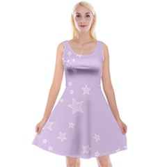 Star Lavender Purple Space Reversible Velvet Sleeveless Dress by Alisyart