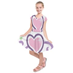 Sweetie Belle s Love Heart Star Music Note Green Pink Purple Kids  Short Sleeve Dress