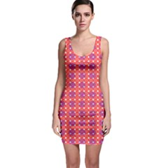 Roll Circle Plaid Triangle Red Pink White Wave Chevron Sleeveless Bodycon Dress by Alisyart