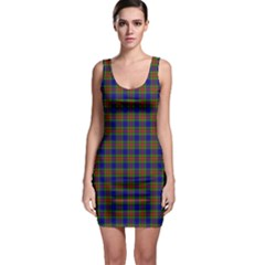 Tartan Fabrik Plaid Color Rainbow Sleeveless Bodycon Dress by Alisyart