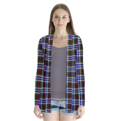 Tartan Fabrik Plaid Color Rainbow Triangle Cardigans by Alisyart