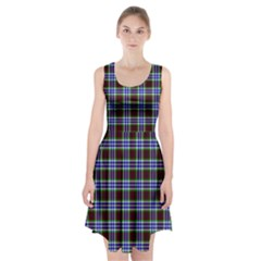 Tartan Fabrik Plaid Color Rainbow Triangle Racerback Midi Dress by Alisyart