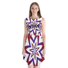 Fractal Flower Sleeveless Chiffon Dress   by Simbadda