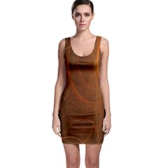 Fractal Color Lines Sleeveless Bodycon Dress by Simbadda