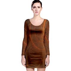 Fractal Color Lines Long Sleeve Bodycon Dress by Simbadda