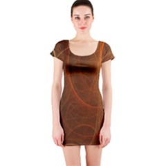 Fractal Color Lines Short Sleeve Bodycon Dress by Simbadda