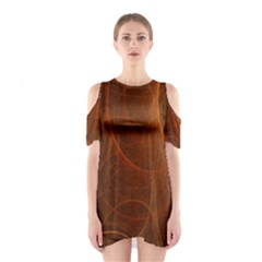 Fractal Color Lines Shoulder Cutout One Piece by Simbadda