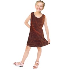 Fractal Color Lines Kids  Tunic Dress by Simbadda