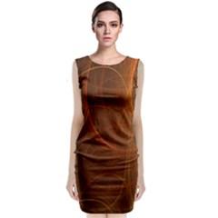 Fractal Color Lines Sleeveless Velvet Midi Dress by Simbadda