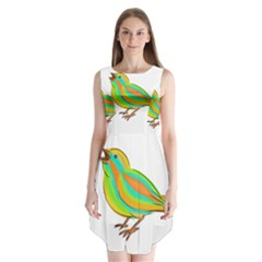 Bird Sleeveless Chiffon Dress   by Valentinaart