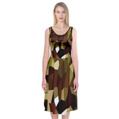 Crystallize Background Midi Sleeveless Dress