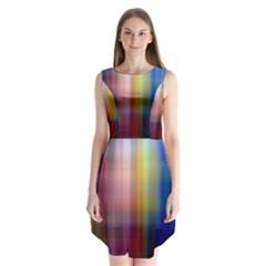 Colorful Abstract Background Sleeveless Chiffon Dress   by Simbadda