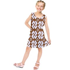 Art Abstract Background Pattern Kids  Tunic Dress by Simbadda