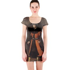 Count Vlad Dracula Short Sleeve Bodycon Dress by Valentinaart