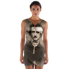 Edgar Allan Poe  Wrap Front Bodycon Dress by Valentinaart
