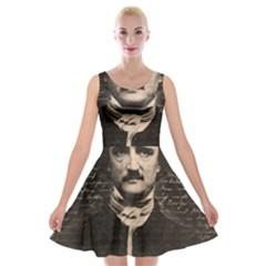 Edgar Allan Poe  Velvet Skater Dress by Valentinaart
