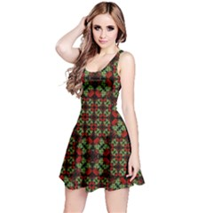 Asian Ornate Patchwork Pattern Reversible Sleeveless Dress by dflcprintsclothing