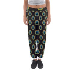 Peacock Inspired Background Women s Jogger Sweatpants