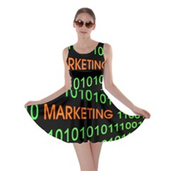 Marketing Runing Number Skater Dress