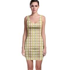 Tomboy Line Yellow Red Sleeveless Bodycon Dress by Alisyart