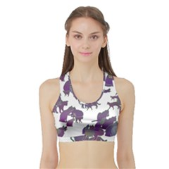 Many Cats Silhouettes Texture Sports Bra With Border by Amaryn4rt