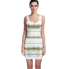 Ethnic Floral Stripes Sleeveless Bodycon Dress by dflcprintsclothing