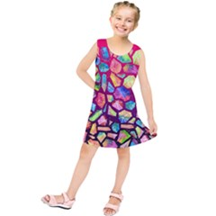 Watercolor Diamond Kids  Tunic Dress