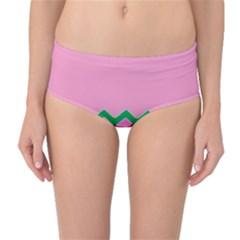 Easter Chevron Pattern Stripes Mid Waist Bikini Bottoms by Amaryn4rt