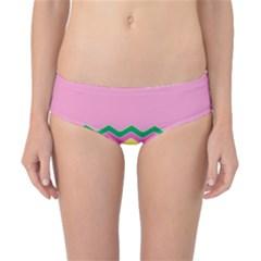 Easter Chevron Pattern Stripes Classic Bikini Bottoms by Amaryn4rt