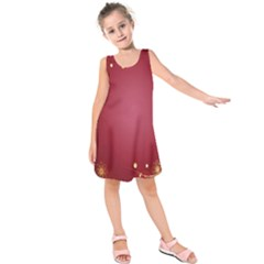 Red Background With A Pattern Kids  Sleeveless Dress by Amaryn4rt