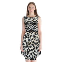 Tiger Background Fabric Animal Motifs Sleeveless Chiffon Dress   by Amaryn4rt