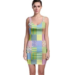 Old Quilt Sleeveless Bodycon Dress by Valentinaart