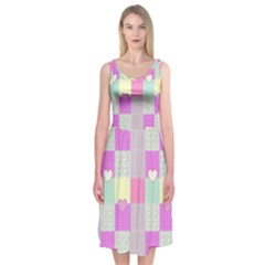 Old Quilt Midi Sleeveless Dress