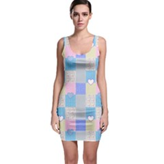 Patchwork Sleeveless Bodycon Dress by Valentinaart