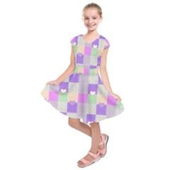 Patchwork Kids  Short Sleeve Dress by Valentinaart
