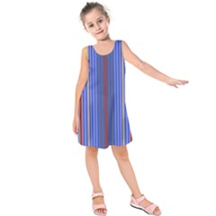 Colorful Stripes Background Kids  Sleeveless Dress by Amaryn4rt