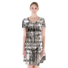 Zodiac Killer  Short Sleeve V-neck Flare Dress
