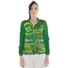 St Patricks Day Wind Breaker (women) by PattyVilleDesigns