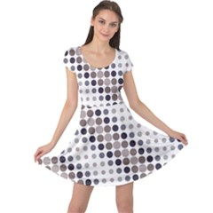 Circle Blue Grey Line Waves Black Cap Sleeve Dresses