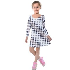 Circle Blue Grey Line Waves Black Kids  Long Sleeve Velvet Dress by Alisyart
