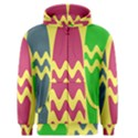 Easter Egg Shapes Large Wave Green Pink Blue Yellow Men s Zipper Hoodie View1